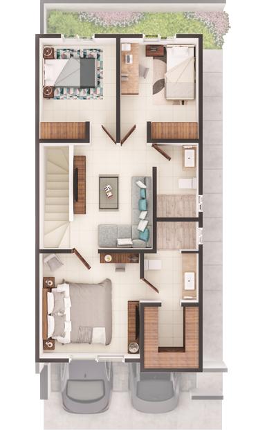 Casas en venta en Cumbres- Modelo Senza Planta Alta
