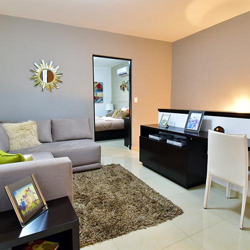 Foto de estancia familiar de casa en venta modelo Senza en Samsara Residencial, Cumbres, Nuevo León.