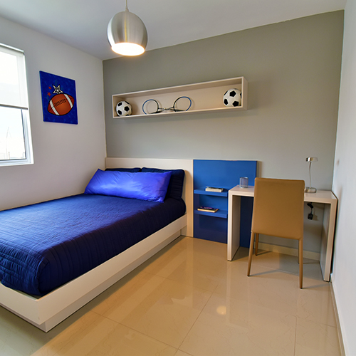 Foto de recámara secundaria de casa en venta modelo Sonata en Samsara Residencial, Cumbres, Nuevo León.