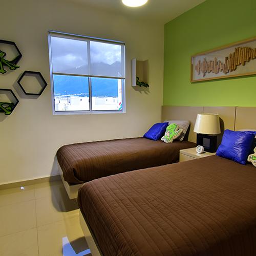 Foto de recámara secundaria de casa en venta modelo Senza en Samsara Residencial, Cumbres, Nuevo León.
