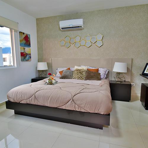 Foto de recámara principal de casa en venta modelo Senza en Samsara Residencial, Cumbres, Nuevo León.