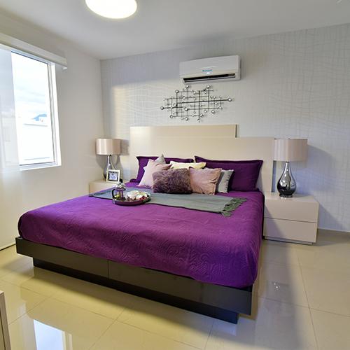 Foto de recámara principal de casa en venta modelo Sonata en Samsara Residencial, Cumbres, Nuevo León.