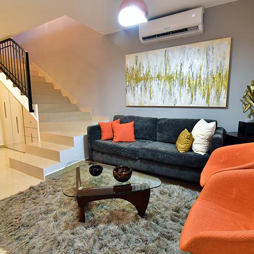 Foto de sala de casa en venta modelo Senza en Samsara Residencial, Cumbres, Nuevo León.
