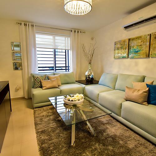 Foto de sala de casa en venta modelo Sonata en Samsara Residencial, Cumbres, Nuevo León.